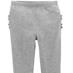 ** 8 For $25 ** Carter's Baby Girls Gray Pants 18m
